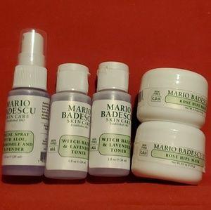 New 5pc Mario Badescu Skincare Travel Set Nwt